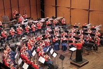 On Feb. 28, 2016, the Marine Band performed John Mackey's The Frozen Cathedral, William Bolcom's Concerto Grosso featuring a saxophone quartet, and Gustav Holst's The Planets. (U.S. Marine Corps photo by Staff Sgt. Rachel Ghadiali/released)