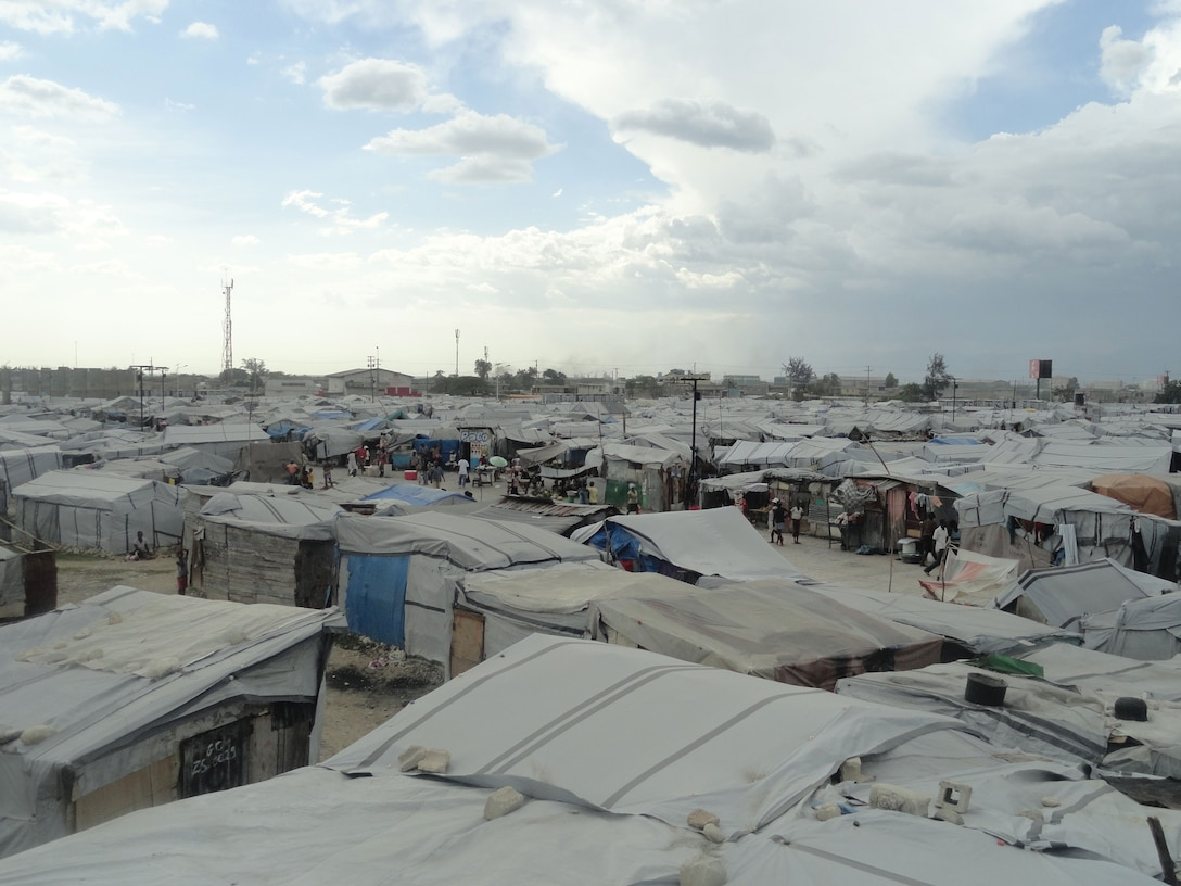 Jean Marie Vincent IDP camp, where Brazilian troops often carried out patrols.