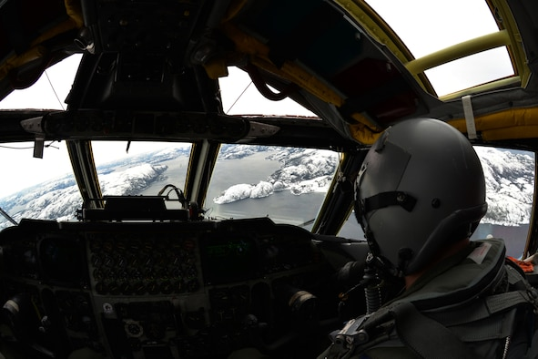 A B-52 Stratofortress flies a mere 1,000 feet off the deck over a fjord in central Norway, March 1, 2016. The B-52 worked with Norwegian joint-tactical air controllers to conduct highly-accurate virtual strikes on enemy positions during exercise Cold Response 16, a biennial NATO training exercise. Norway, the U.S. and other NATO allies participated in the exercise, engaging in maritime, ground and air operations. (U.S. Air Force photo/Senior Airman Joseph Raatz)
