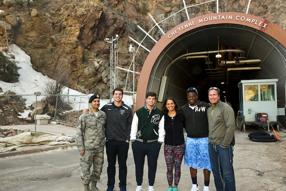 National Football League Player Visits Cheyenne Mountain