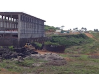 The power house at the Mount Coffee Hydropower Project in Monrovia, Liberia.