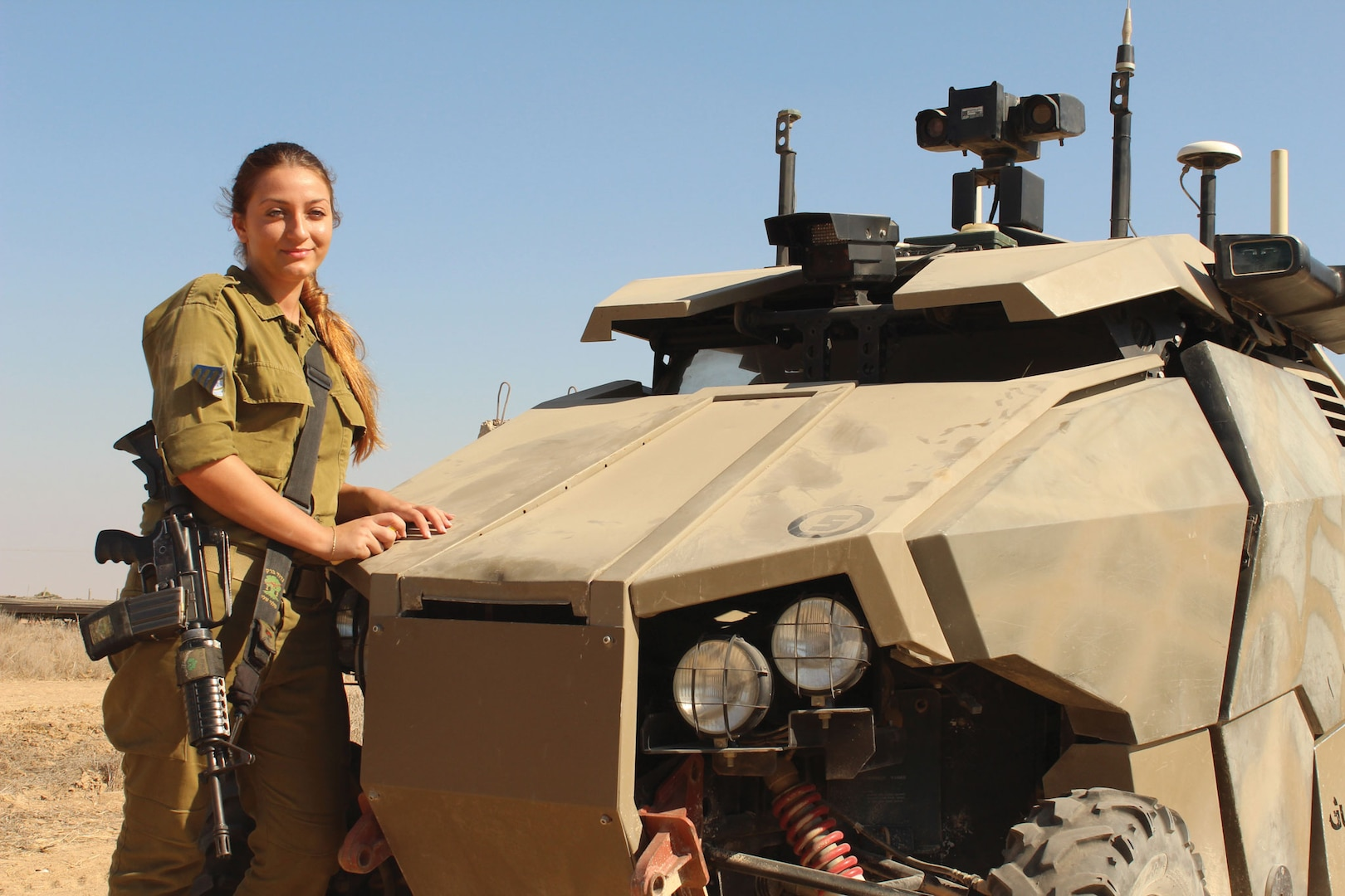 Israeli soldier with UVG.