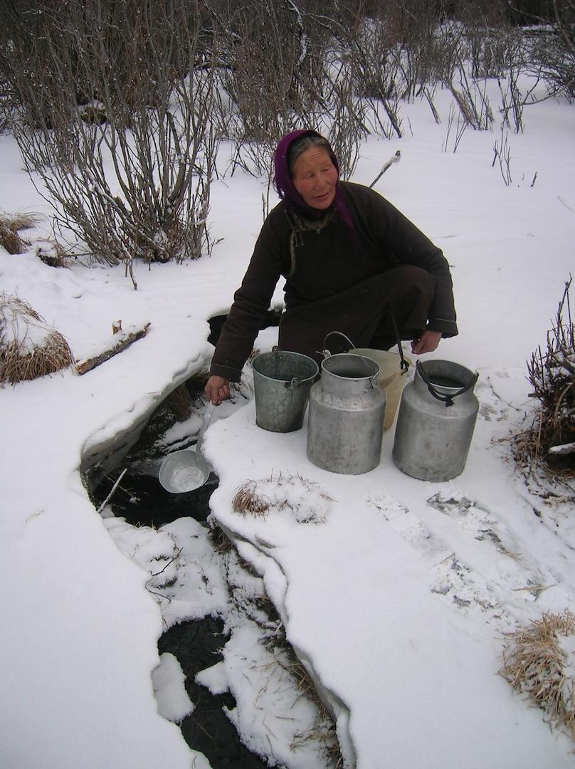 Narantsetseg Baasan, a single woman living and making her way alone with her son by northern border of Mongolia (near Siberia) in Erdenebulgan soum, Huvsgul province.
