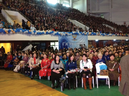 A Democratic Women's event in 2011, Ulaanbaatar
