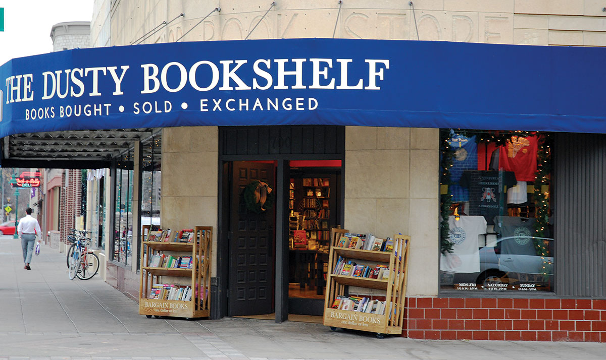 The Dusty Bookshelf Is A Long Standing Business In Aggieville Right On Corner Of Moro