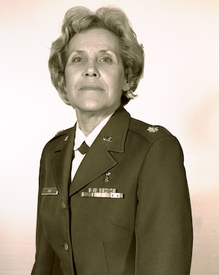 Peggy Frye is the first woman in the history of the 188th Wing to be promoted to the rank of lieutenant colonel. Frye was promoted on Dec. 14, 1989, and was a member of the 188th Medical Training Squadron, which is now the 188th Medical Group. (Courtesy photo)