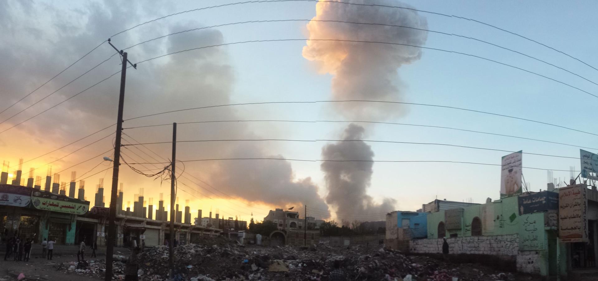 Air strike in Sana'a