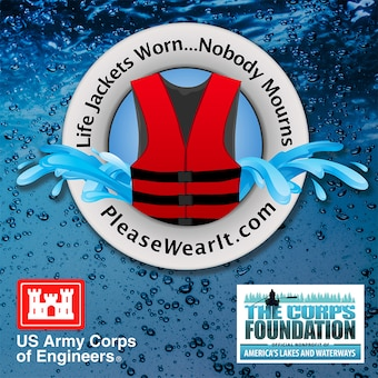 "Every year thousands of people in the United States mourn the loss of loved ones who could have survived if they had been wearing a life jacket while spending time on or near our nation's waters.  To heighten awareness, the U.S. Army Corps of Engineers recently launched a national water safety campaign titled ""Life Jackets Worn - Nobody Mourns."""