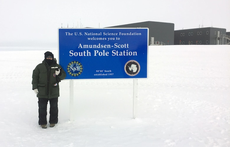 Master Sgt. Nicole Wagoner, 146th Airlift Wing safety manager, recently served as an augmentee with the 109th Airlift Wing during their annual support to the National Science Foundation (NSF) in Antarctica. Wagoner served as safety manger and worked daily with the airfield managers to evaluate the taxi runway conditions.(Courtesy photo of Air National Guard Member Master Sgt. Nicole Wagoner)