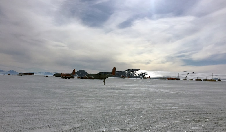 Master Sgt. Nicole Wagoner, 146th Airlift Wing safety manager, recently served as an augmentee with the 109th Airlift Wing during their annual support to the National Science Foundation (NSF) in Antarctica. Wagoner served as safety manger and inspected the taxi runway conditions daily for optimum safety. (Courtesy photo of Air National Guard Member Master Sgt. Nicole Wagoner)