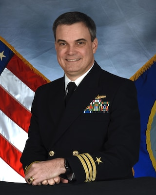 Cmdr. Beck grew up in Midland, Texas and graduated from the U.S. Naval Academy in 1992 with a degree in computer science. His first tour of duty was on USS GUNSTON HALL (LSD 44) from January 1993 to March 1996, where he served as Electrical Officer, Combat Information Center Officer, and Assistant Operations Officer. He qualified OOD, SWO, CDO, TAO, and EOOW. CDR Beck's second division officer tour was aboard USS LABOON (DDG 58) from March 1996 to October 1997. He served as the A, E, and R Division Officer and as Assistant Engineer.