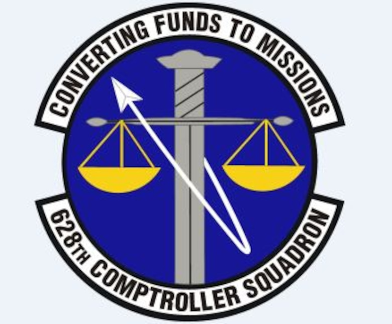 628th Comptroller Squadron emblem.