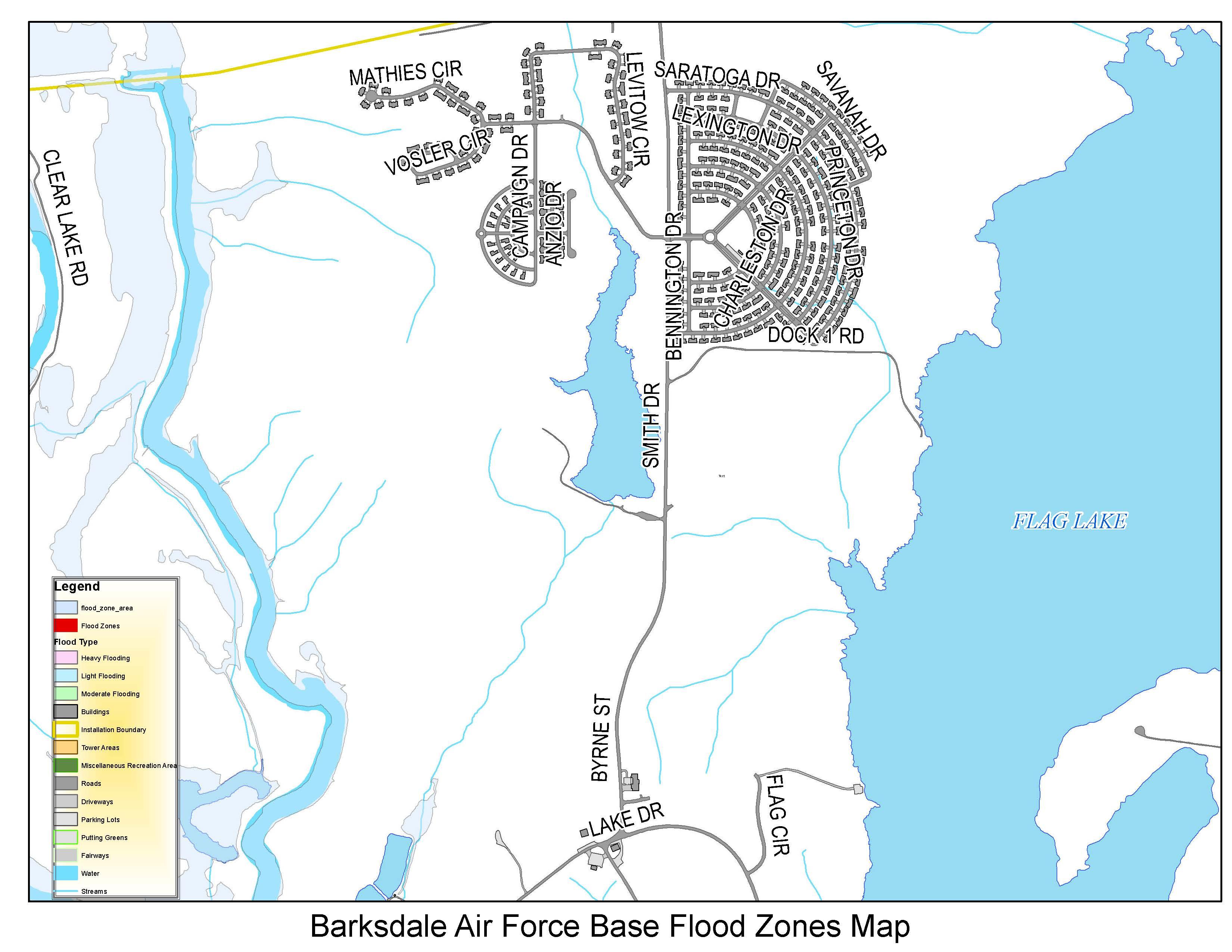 Back Up Dont Get Swept Up Barksdale Air Force Base Display - La flood zone map