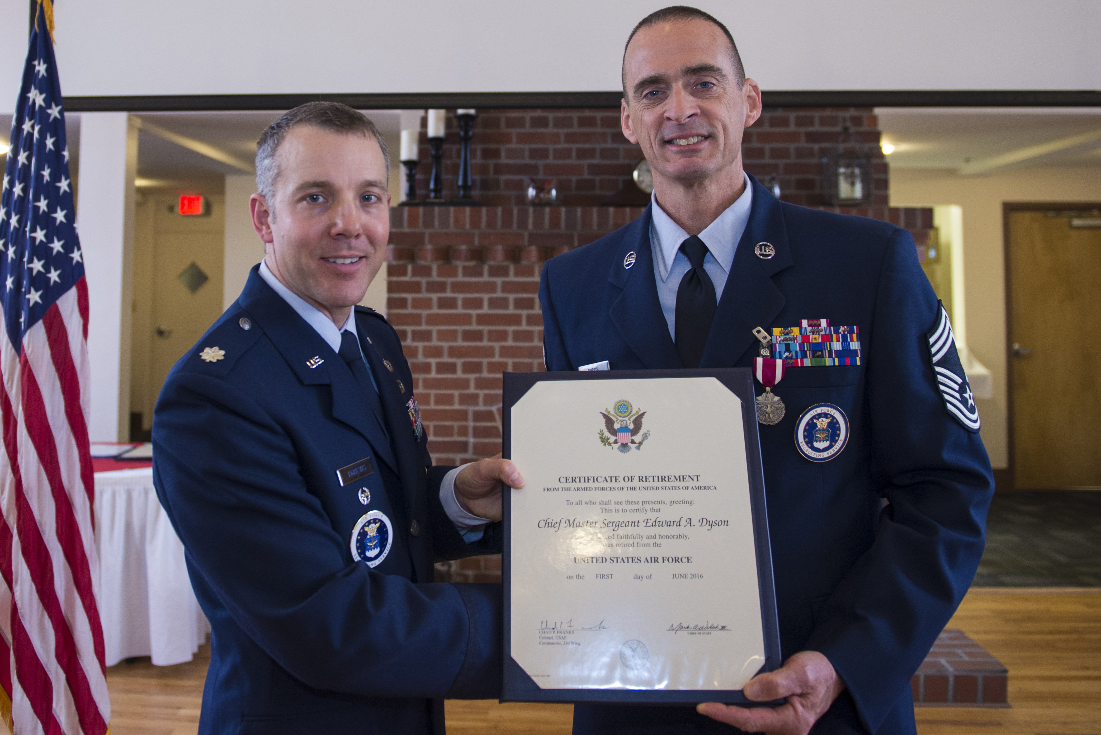 def3101695f 30 Year Chief bids farewell to career as an AF recruiter   Moody Air ...