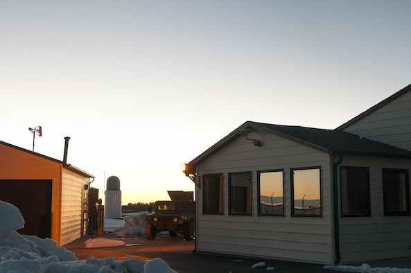 The sun rises at a Missile Alert Facility in the F.E. Warren Air Force Base, Wyo., missile complex, Feb. 9, 2016. MAFs house the missile crews who command Minuteman III ICBMs. (U.S. Air Force photo by Senior Airman Jason Wiese)
