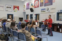 """On March 9, 2016, a string quartet from """"The President's Own"""" performed a Music in the High Schools presentation at West Potomac High School in Alexandria, Va. (U.S. Marine Corps photo by Master Sgt. Kristin duBois/released)"""