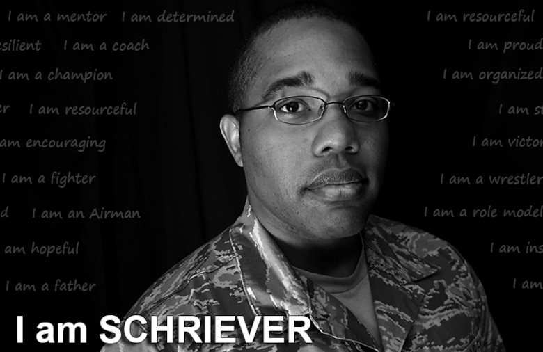 Morris Thomas, 50th Space Wing Safety Office staff sergeant, says wrestling saved him from becoming self-destructive as a child. Now, he's created the Children of Valor wrestling club at Schriever Air Force Base, Colorado, and hopes to pass on his lessons learned to the children. (U.S. Air Force graphic/Staff Sgt. Debbie Lockhart)