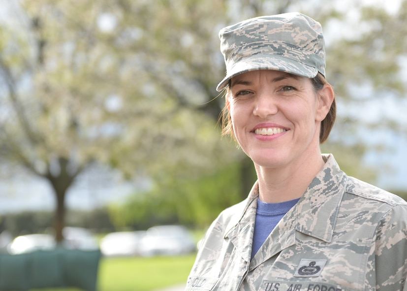 Master Sgt. Rochelle Arnold, 9th Operations Group first sergeant, poses for a photo March 4, 2016, at Beale Air Force Base, California.(U.S. Air Force photo by Robert Scott)
