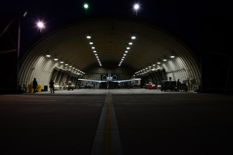 Airmen from the 25th Aircraft Maintenance Unit prepare an A-10 Thunderbolt II for a simulated combat sortie in support of exercise Beverly Midnight 16-01 at Osan Air Base, South Korea, March 9, 2016. A-10s are simple, effective and survivable twin-engine jet aircraft that can be used against all ground targets, including tanks and other armored vehicles and when using night vision goggles, A-10 pilots can conduct their missions in darkness. (U.S. Air Force photo/Staff Sgt. Rachelle Coleman)