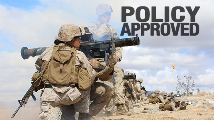Secretary of Defense Ash Carter approved the Marine Corps' Force Integration Implementation Plan, which systematically opens all military occupational specialties, March 10, 2016. This systematic plan is conditions-based and event-driven, with many actions occurring in the first 12 months.