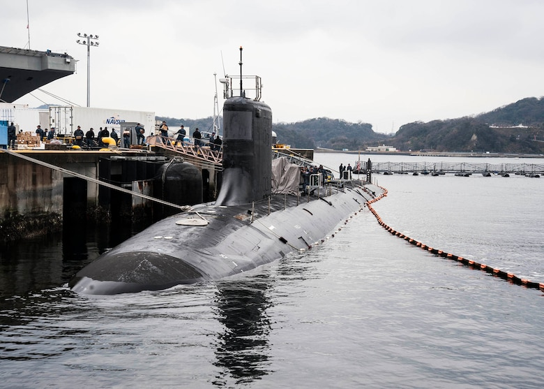 160311-N-ED185-005 FLEET ACTIVITIES YOKOSUKA, Japan -- The Virginia-class attack submarine USS Mississippi (SSN 782) is moored at Fleet Activities Yokosuka. Mississippi is visiting Yokosuka for a port visit. U.S. Navy port visits represent an important opportunity to promote stability and security in the Indo-Asia-Pacific region, demonstrate commitment to regional partners and foster relationships. (U.S. Navy photo by Mass Communication Specialist 2nd Class Brian G. Reynolds/Released)