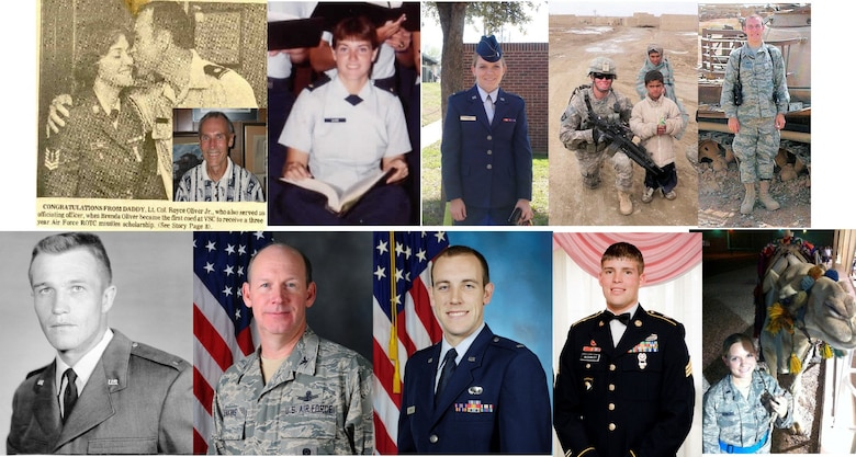 A photo collage created by Ronald Jenkins, 90th Missile Wing Director of Staff, of his family members who have served or are currently serving in the Air Force. The Jenkins family has served in the military for four generations, reaching back to the First World War.  (Courtesy photo)