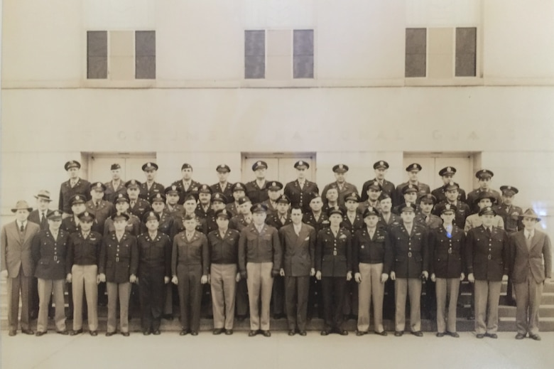 The first class of newly minted Special Agent graduates from the United States Air Force Office of Special Investigations Academy at the Washington, D.C. National Guard Armory pose for a class photo March 10, 1949. (USAFSIA photo)