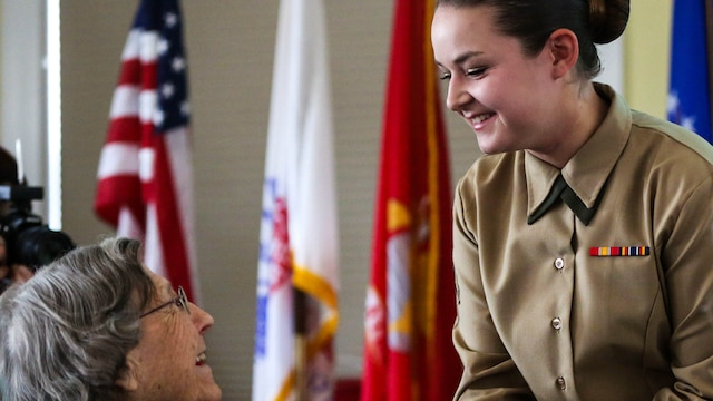 Female veterans and active duty and future Marines were united March, 11, 2012 by the Women's Marine Association to recognize Women's History Month and celebrate the 73rd  anniversary of proudly serving in the Marine Corps.