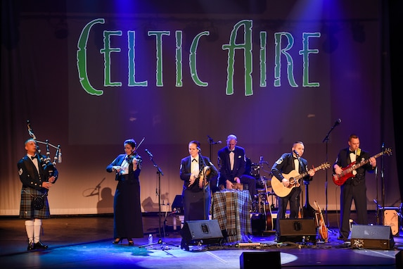 The United States Air Force Band's Celtic Aire performs at the Wichita Falls Performing Arts Centre in Wichita Falls, Texas, March 11, 2016. This show was part of a North Texas tour from March 4 – 12. (U.S. Air Force photo by Senior Airman Ryan J. Sonnier/RELEASED)