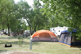 Tent camping is a popular activity at one of many campsites located on Lake Sakakawea at the Garrison Project in western North Dakota.