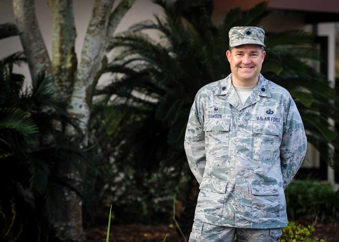 Lt. Col. Richard Dawson, commander of the 1st Special Operations Contracting Squadron, stands for a photo at Hurlburt Field, Fla. Mar. 14, 2016. (Air Force photo by Senior Airman Meagan Schutter)