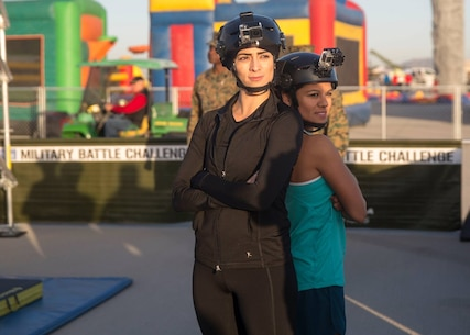 Yuma's own Christina Fernandez, from Univision, and Telemundo's Fernanda Robles faced-off in a station-versus-station competition in the Marine Corps Battle Challenge at Marine Corps Air Station Yuma, Ariz., Saturday, Feb. 27, 2016.