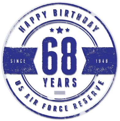 Air Force Reserve birthday art