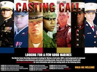 Marine Corps Recruiting Command (MCRC) will host a casting call at the Marine Corps Exchange in the 13 area and the Pacific Views Marine Corps Exchange on Camp Pendleton for future recruiting media, April 5-6. MCRC is looking for quality Marines of all ranks, occupational specialty and backgrounds to be considered in future MCRC advertising projects.