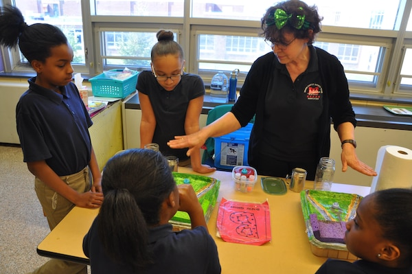 In honor of Women's History Month, Buffalo District USACE women volunteered their time to address a group of 4th grade girls at the Lydia T. Wright School, Buffalo, New York.