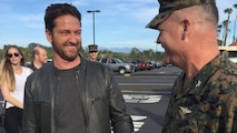 "Hollywood star Gerard Butler visited Camp Pendleton, where he screened his new movie, ""London Has Fallen,"" in with military and their families. Butler, escorted by Col. Ian R. Clark and Lt. Col. David Fairleigh, said the troops have always been big supporters of his movies, and this visit was about honoring our real-life heroes ."