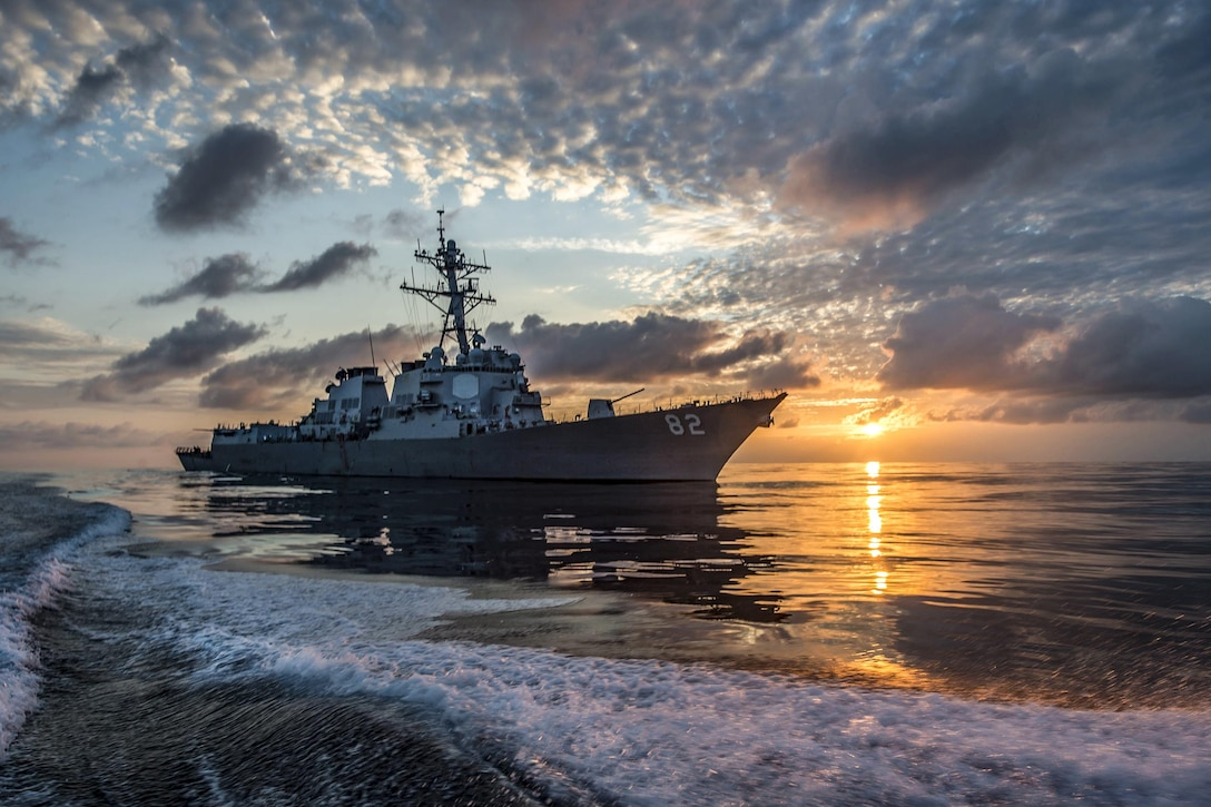 The USS Lassen patrols the eastern Pacific Ocean, March 10, 2016. The guided-missile destroyer is supporting Operation Martillo with the U.S. Coast Guard and partner nations within the U.S. 4th Fleet area of responsibility. Navy photo by Petty Officer 2nd Class Huey D. Younger Jr.