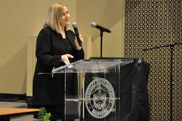 Nashville Mayor Megan Barry touts women-owned small business opportunity during the Small Business Conference held at the Tennessee State University Avon Williams Campus March 17, 2016. Barry is the first-ever woman mayor in Music City.