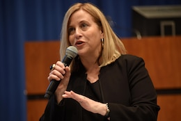 Nashville Mayor Megan Barry touts the incredible climate that now exists in Music City for small business, entrepreneurs, and creatives during the 5th Annual Small Business Forum at Tennessee State University in Nashville, Tenn., March 17, 2016.