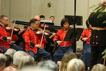 On March 18, 2016, the Marine Chamber Orchestra performed a concert conducted by Lt. Col. Jason K. Fettig at the National Gallery of Art in Washington, D.C. The program was a part of the gallery's four-day 75th anniversary commemoration and featured Ottorino Respighi's Trittico botticelliano, Richard Addinsell's Warsaw Concerto, and Aaron Copland's Appalachian Spring. (U.S. Marine Corps photo by Master Sgt. Amanda Simmons/released)