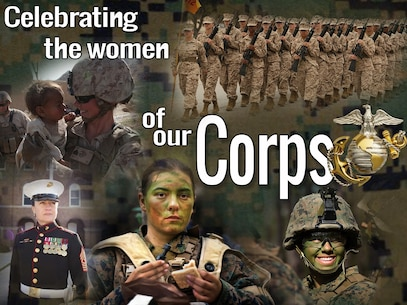 The month of March is designated as Women's History Month where women are recognized for their accomplishments and progression in society. Out of the approximately 183,000 active duty Marines, only about 14,100 are women making up only about 7.7% of the Marine Corps, according to Department of Defense statistics. (U.S. Marine Corps Photo-Illustration by Cpl. Brittany A. James/Released)