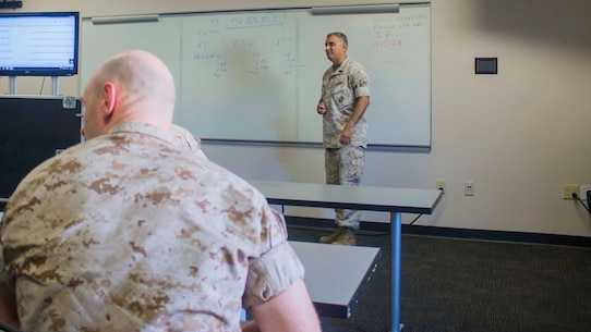 Students get classroom instruction from active duty operators and repairmen that have been certified as instructors.