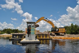 Construction continues on the Kissimmee River Restoration Project. When completed, the project will restore more than 40 miles of river-floodplain ecosystem.