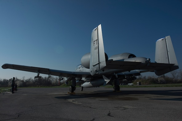 A U.S. Air Force A-10 Thunderbolt II aircraft pilot assigned to the 74th Expeditionary Fighter Squadron prepares taxi the aircraft for takeoff during the 74th EFS's deployment in support of Operation Atlantic Resolve at Graf Ignatievo, Bulgaria, March 18, 2016. The squadron served as part of a rotational force aimed at bolstering U.S. capabilities and underscoring the U.S. commitment to European security and stability. (U.S. Air Force photo by Staff Sgt. Joe W. McFadden/Released)