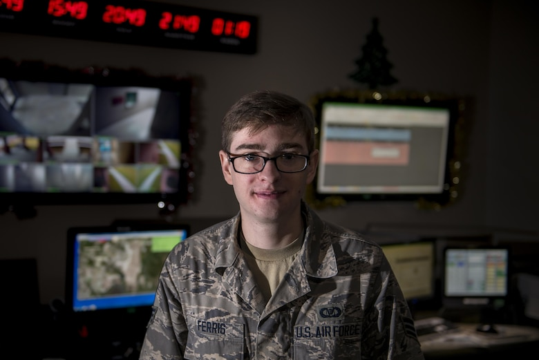 """""""Being Command Post you see everything that happens. The first 10 minutes after an incident are the most chaotic -- we're busy calling and notifying everyone to get the ball rolling. You get to see so much more than the average Airmen. Even as a young Airman – I see the bigger picture. Every incident that happens comes across this desk. I love how involved in the mission we are specifically with search and rescues. We are the initial notification and precoordination that ends in a life being saved. I remember the first search and rescue I helped coordinate – from here I helped save a life in Utah. In the two years I've been at Moody, a lot of interesting things have happened. It is just a great feeling of mission accomplishment ... It's just awesome.""""  (Senior Airman William Ferris, Command Post controller from the 23d Wing)"""