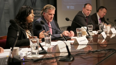 """It is """"not sufficient to look at history for lessons on how we should prepare for and prevent future security risks in a climate change world,"""" said Swathi Veeravalli, research scientist at the U.S. Army Corps of Engineers' Geospatial Research Laboratory, at the Wilson Center on January 14. Climate change and the extreme weather events it brings pose an """"unprecedented"""" threat to human security.  Veeravalli was joined by four other experts from the military, development, and humanitarian fields to discuss how complex crises are prompting more multi-disciplinary cooperation across disparate government agencies and between national governments."""
