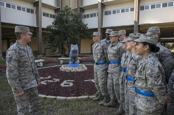 Airmen currently attending Airman's Week speak with their instructor about the significance of squadron symbols and lineage Jan 21, 2015, at Joint Base San Antonio-Lackland, Texas. Airmen's Week. Airmen's Week is a five-day course implemented in March 2015 that helps Airmen better prepare for technical training school and beyond.