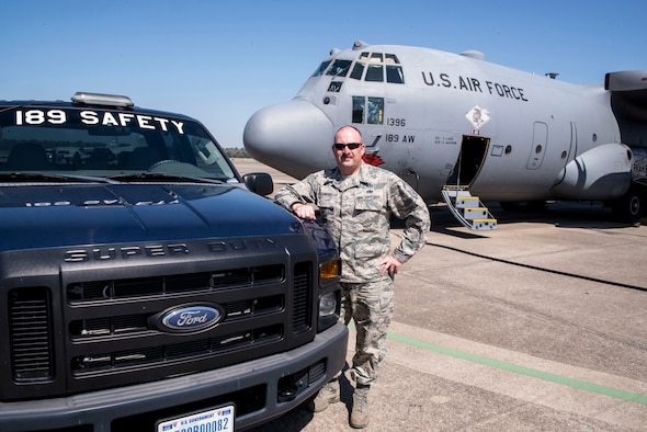Senior Master Sgt. J.D. Crawford, 189th Airlift Wing Occupational Safety Manager.