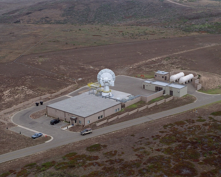 The 30th Space Wing's AN/TPQ-18 Radar is seen from above in 2000. The radar was installed in its present location in 1965 and was accepted for operational support in November of the same year. The Radar supported its first mission as a commissioned asset in March of 1966. (Courtesy photo)