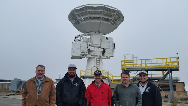 Members of the AN/TPQ-18 Radar crew pose for a photo, Jan. 13, 2016, Vandenberg Air Force Base, Calif. The 30th Space Wing's AN/TPQ-18 Radar achieved a milestone, providing faithful service to the U.S. Air Force mission for the past 50 years. (Courtesy photo)